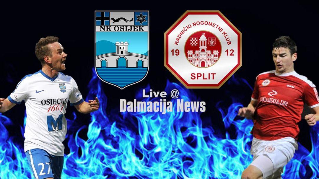 Kraj: NK Osijek – RNK Split > Domaćin upisuje 3 boda